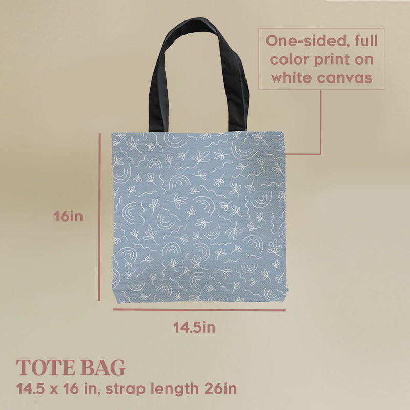 Monday Blues Tote Bag by Artyana