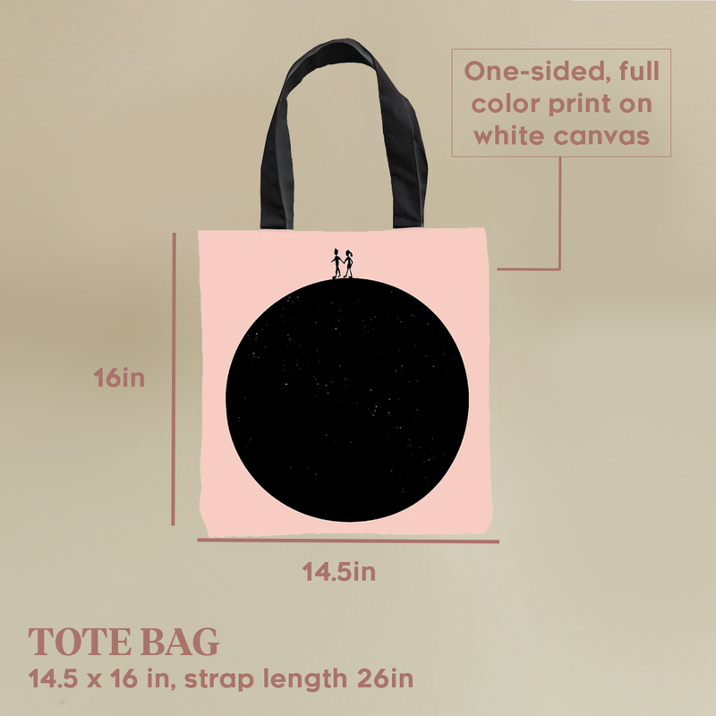 You Me Tote Bag by Clems on Paper