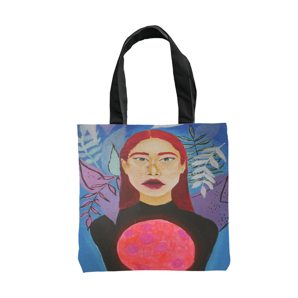 Moon, My Light Totebag by Janina Saprid