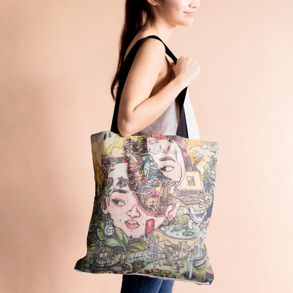 Happy Thoughts Tote Bag by Sharayah Ramos