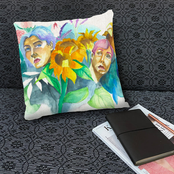 Bloom Throw Pillow by Janina Saprid
