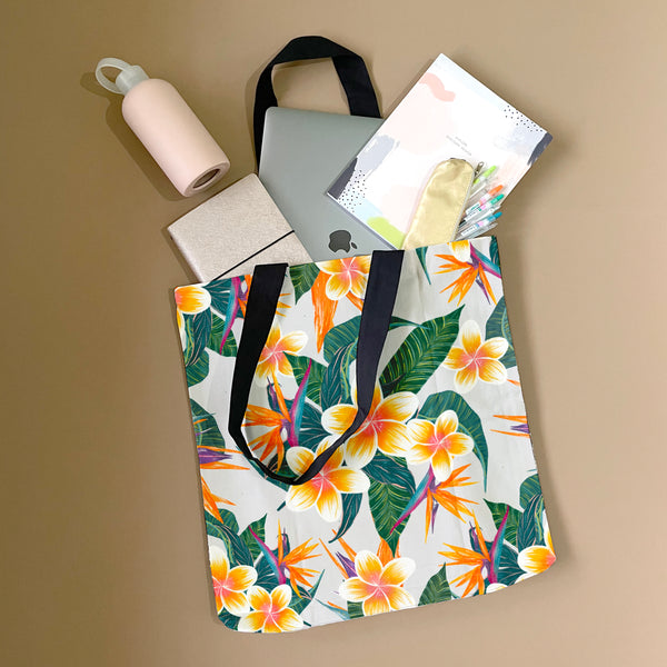 Plumerias In Bloom Tote Bag by Tin Bejar
