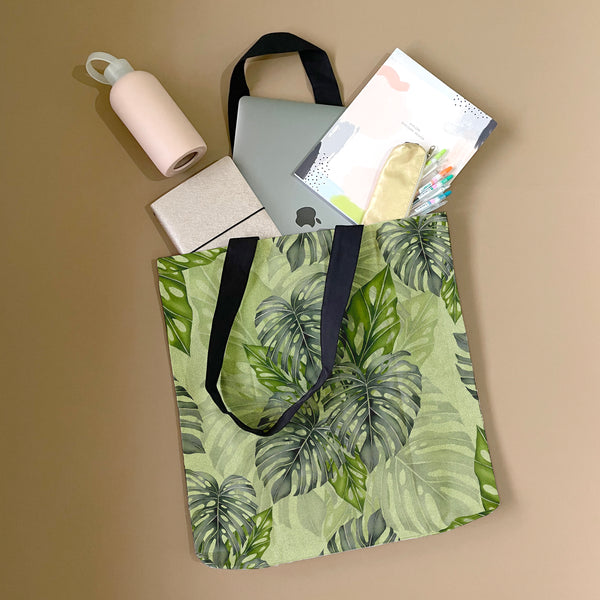Tropical Greens Tote Bag by Tin Bejar