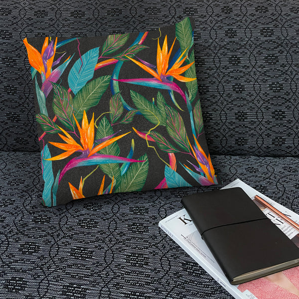 Tropical Paradise Throw Pillow by Tin Bejar