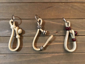 Braided Rawhide Connector Style Keychains - Assortment of Colors