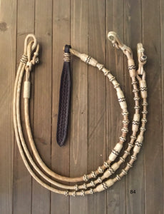 Romel Reins 24 Plait Oklahoma Pattern Accents All Barrels And Buttons