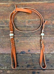 Bosal Hanger Chap Leather with Rawhide Accents