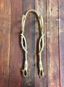 Rawhide Double Ear 34 Plait Headstall in 4 Color Options