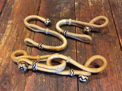 Figure 8 Rawhide Connectors Natural or Natural w/ Black Accents