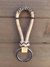 Load image into Gallery viewer, Beautiful Mini Bosal Rawhide Keychains -  Assortment of Colors