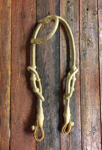 Rawhide Single Ear Headstall 34 Plait -  3 color options