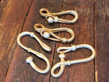 Load image into Gallery viewer, Figure 8 Rawhide Connectors Natural or Natural w/ Black Accents
