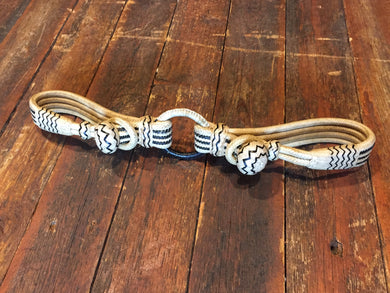Flat Braided Rawhide Hobble  with Black Accents