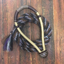 "Load image into Gallery viewer, Bosal 5/8"" or 1/2"" Finely Plaited Featured With Brown/Natural Accents"