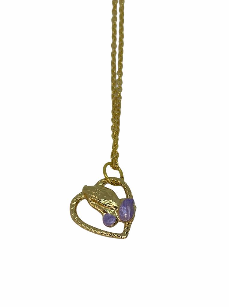 GOLD PURPLE HEART X PRAYING HANDS
