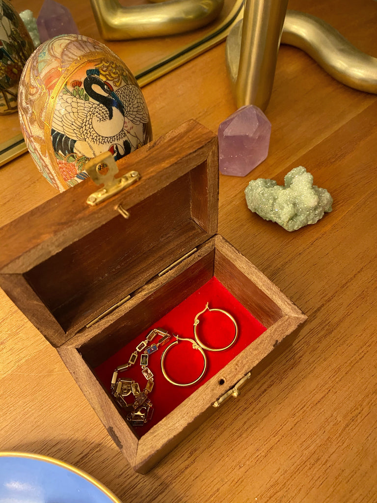 HANDMADE MOON & STARS JEWELRY BOX