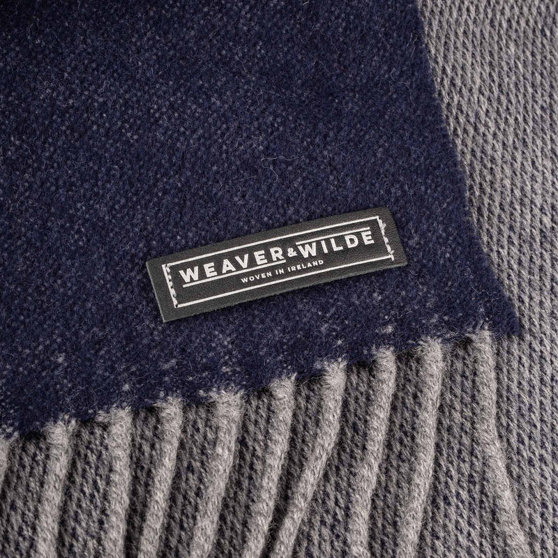 Navy & Grey Reversible Scarf