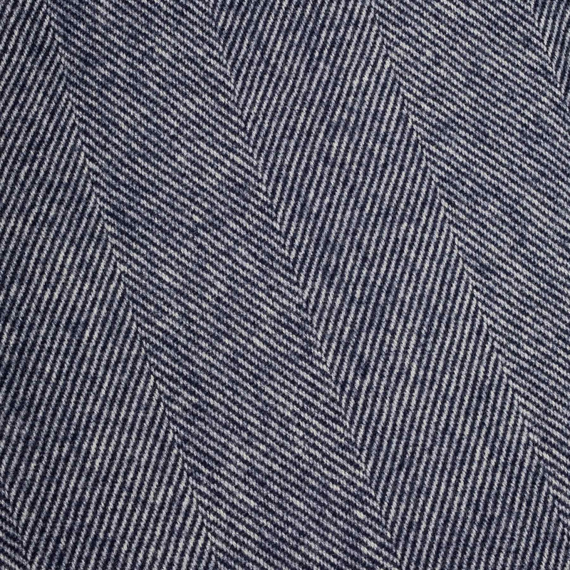 Navy Herringbone Supersoft Lambswool Throw