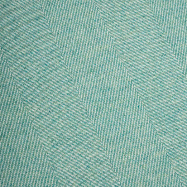 Spearmint Herringbone Supersoft Lambswool Throw