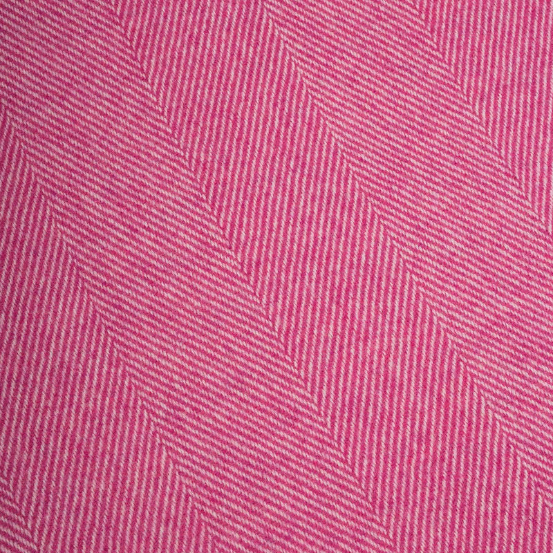 Raspberry Rose Herringbone Supersoft Lambswool Throw