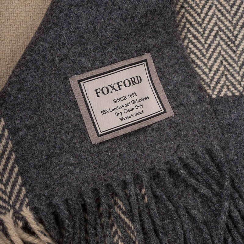 Oxford & Bone Cashmere Blend Block Throw