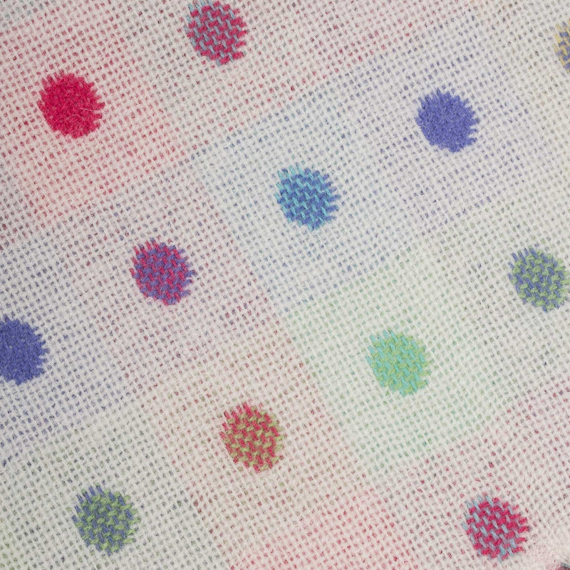 Multi Coloured Spot Baby Blanket