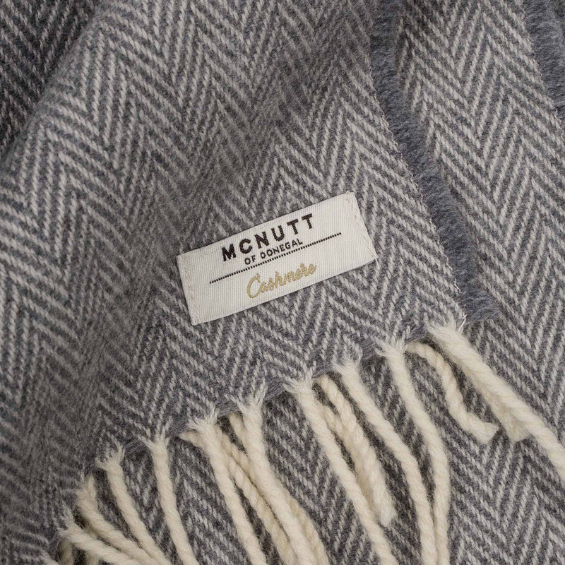 Uniform Grey Cashmere Wrap