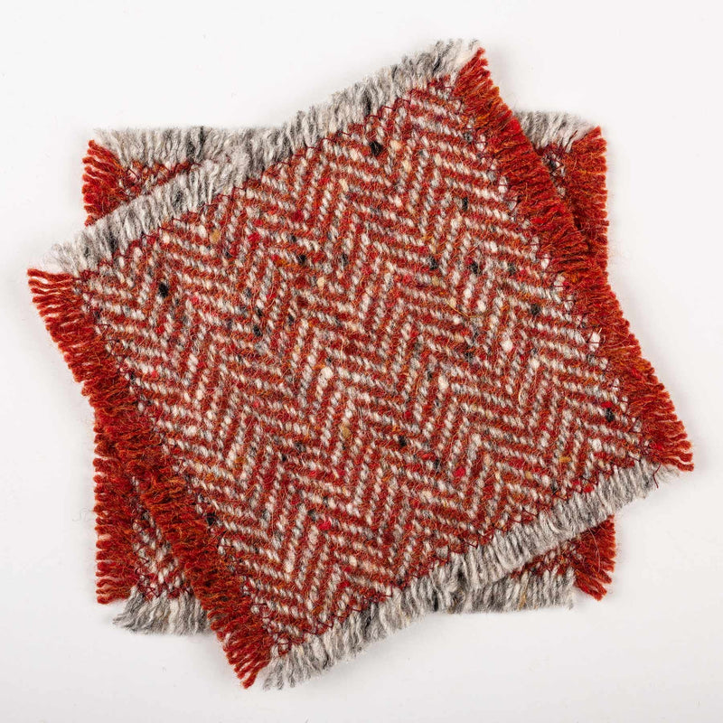 TWEED COASTERS - Red
