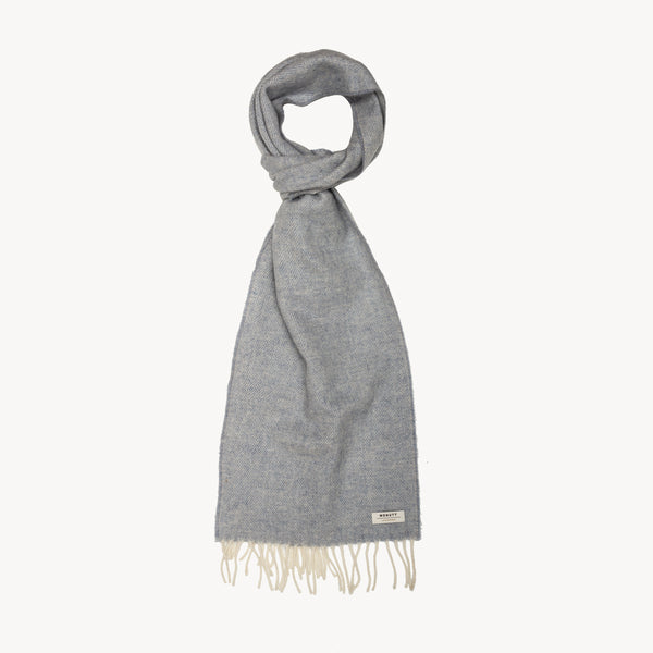 Smoke HERRINGBONE SUPERSOFT LAMBSWOOL SCARF