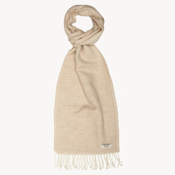 Linen HERRINGBONE SUPERSOFT LAMBSWOOL SCARF