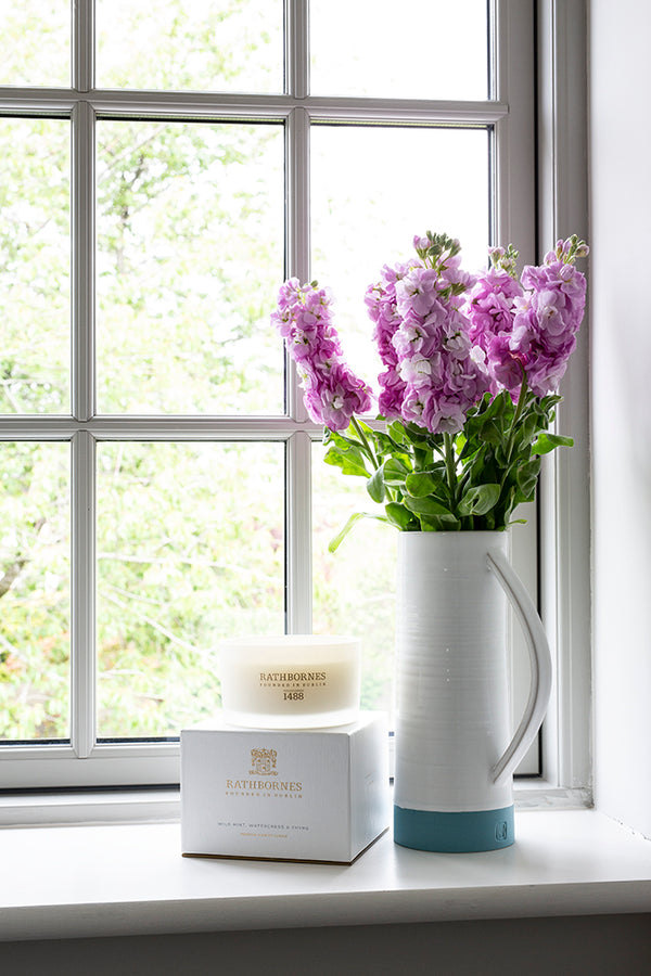 Dublin Tea Rose, Oud & Patchouli Luxury Candle