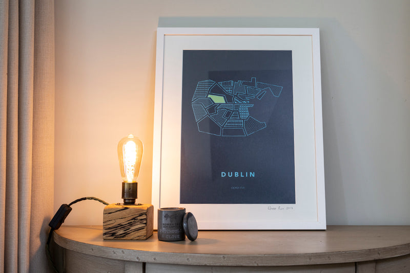 Dublin City - Stylised Map