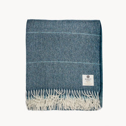 Alpaca Collection Petrol Blue Ombre Throw