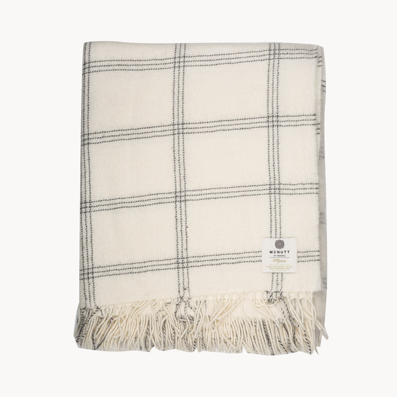 Alpaca Collection White Pearl Window Throw