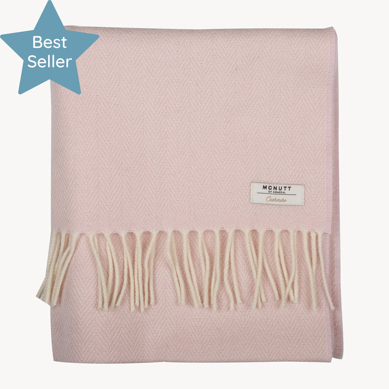 Cloud Pink Cashmere Wrap