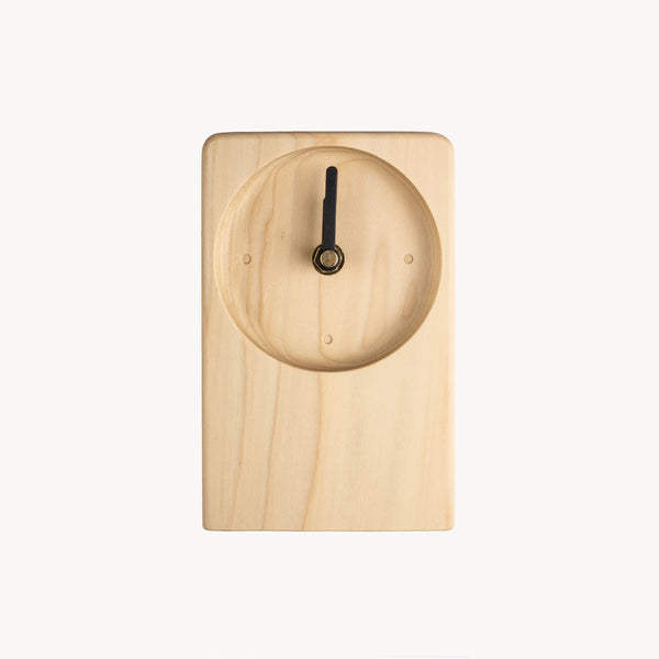 SPUN Desk Clock - Natural