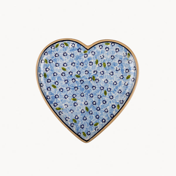 Heart Plate - Lawn Light Blue