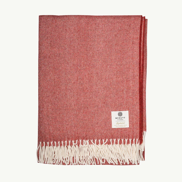 Tabasco Herringbone Supersoft Lambswool Throw
