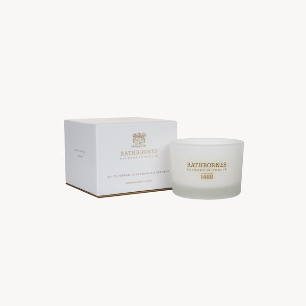 White Pepper, Honeysuckle & Vertivert Classic Candle