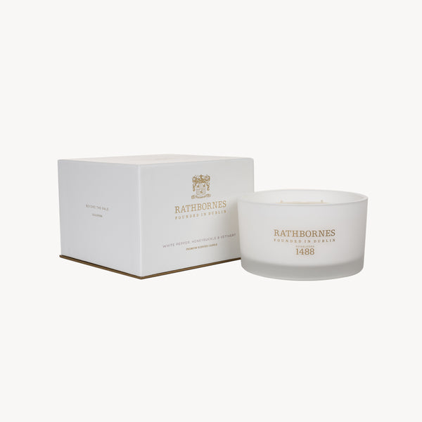 White Pepper, Honeysuckle & Vertivert Luxury Candle