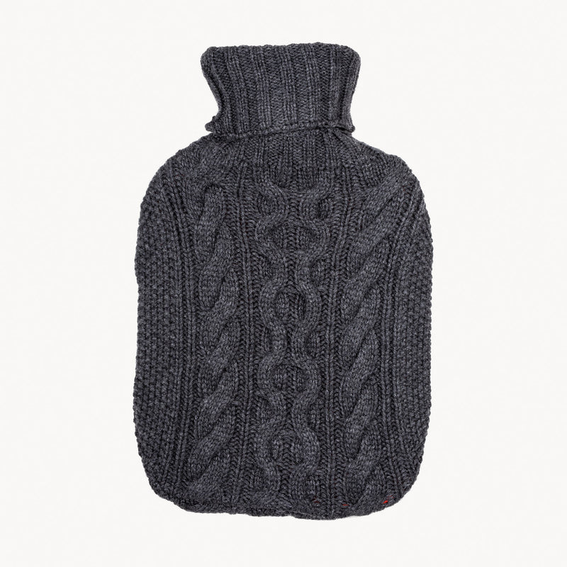 Charcoal Knitted Hot Water Bottle