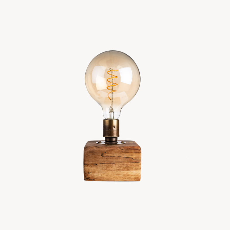 Wooden Block Table Lamp