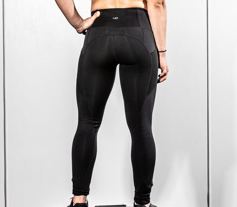 "Legging ""Boss Babe"" in Nero"