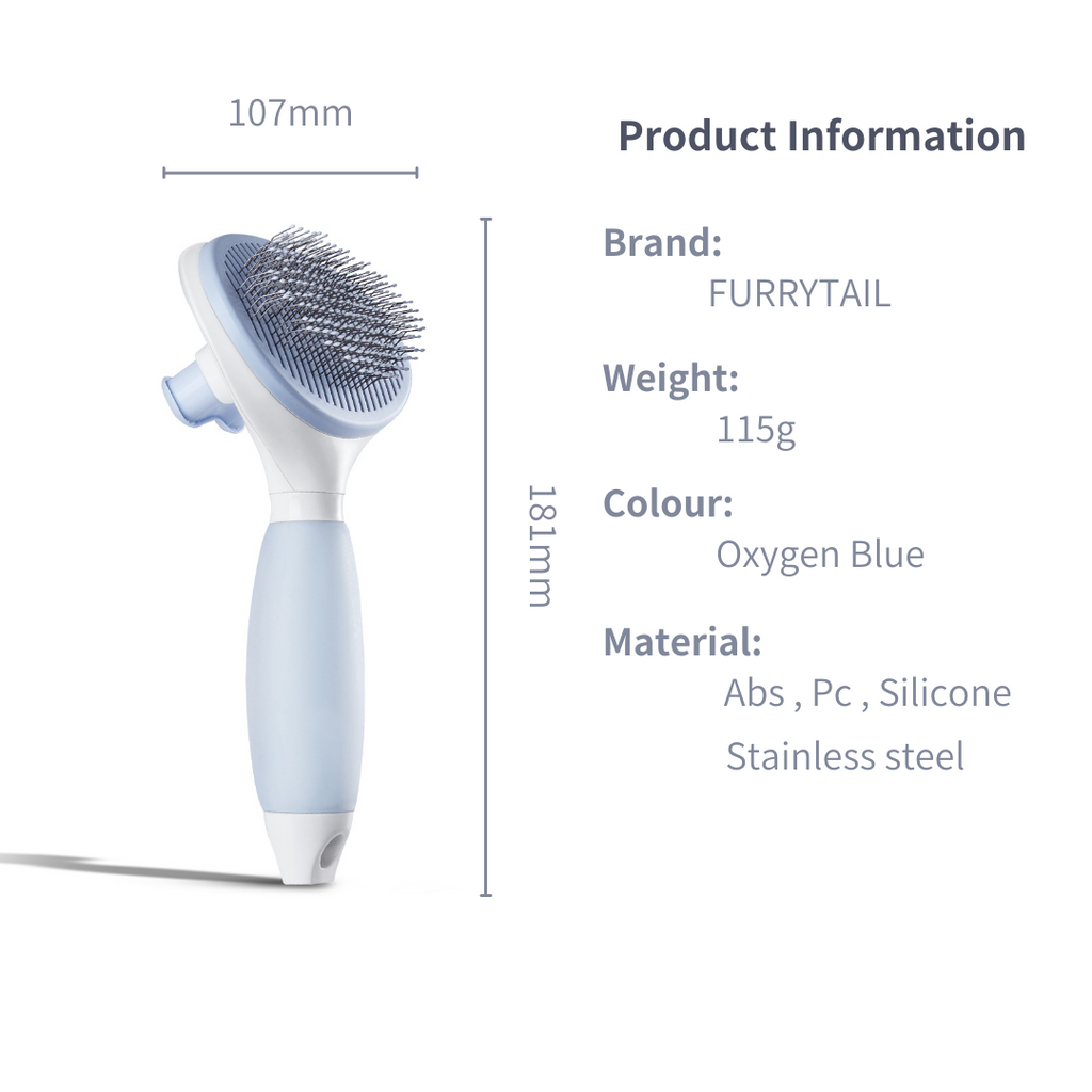 Furrytail Cream Pet Brush