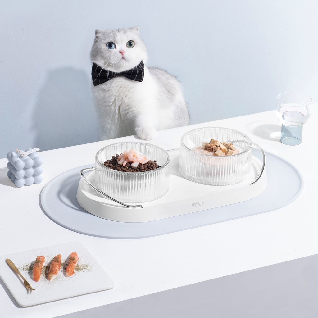 Furrytail Doubowl Cat Kitty Bowls