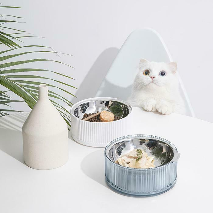 Furrytail Antibacterial Stainless Steel Cat Bowl