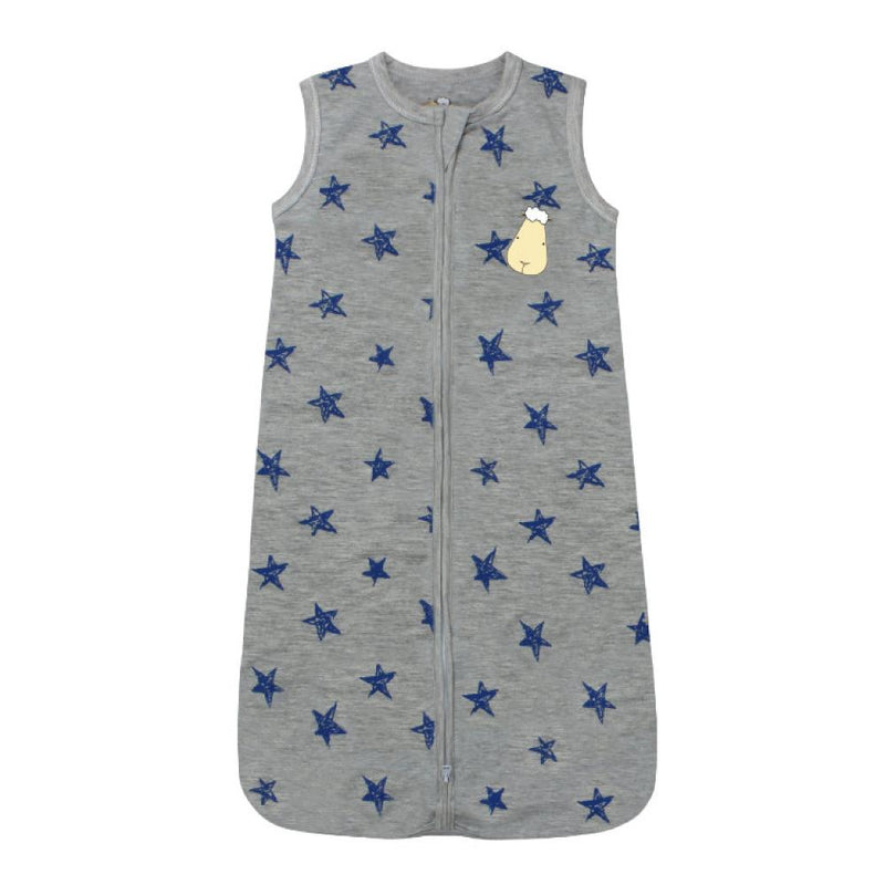 Wearable Blanket Zip Blue Star Grey