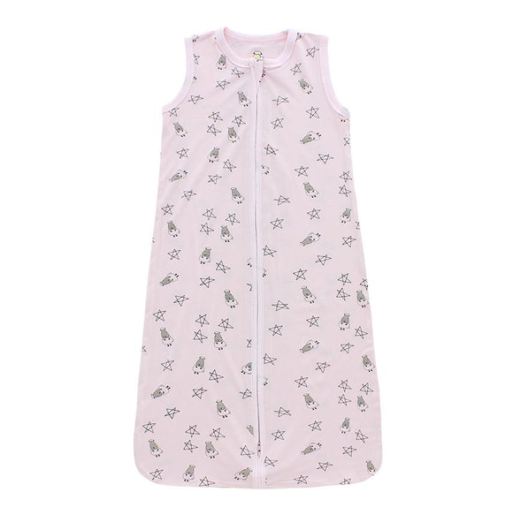 Wearable Blanket Zip Small Star & Sheepz Pink