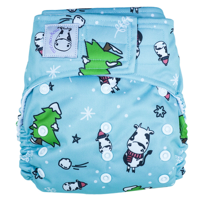 Cloth Diaper One Size Aplix - Winter