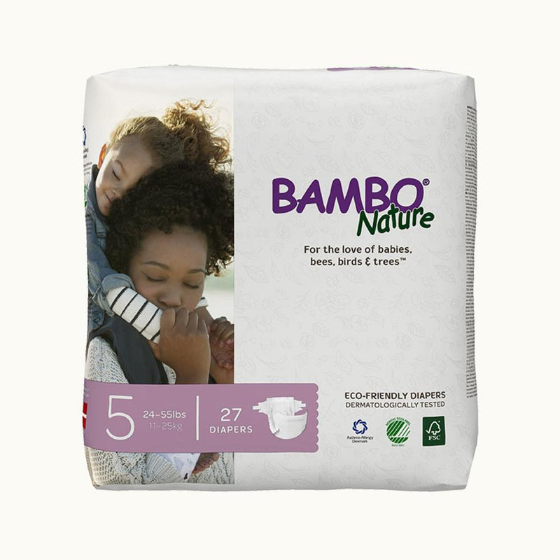 Bambo Nature Baby Diaper [Size 5 / 11-25kg] 27/pack